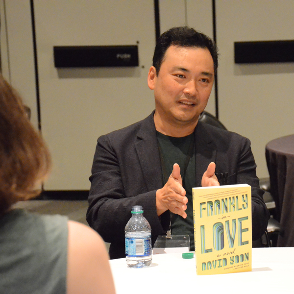Author David Yoon at the ABC/CBC Speed Dating Tea.