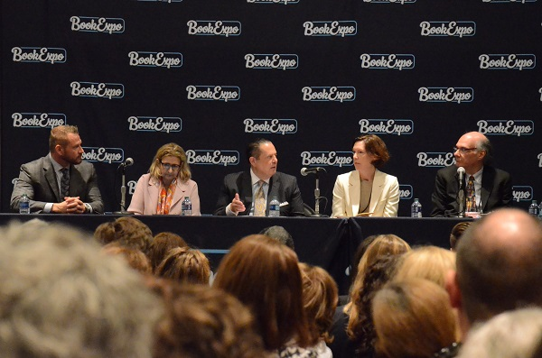 "ABA CEO Oren Teicher participating in the ""The Power of Retail: Making Books, Authors and Building Community"" panel."