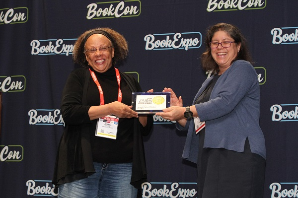 Author Jewell Parker Rhodes received the E.B. White Read Aloud Award for a Middle Reader book.