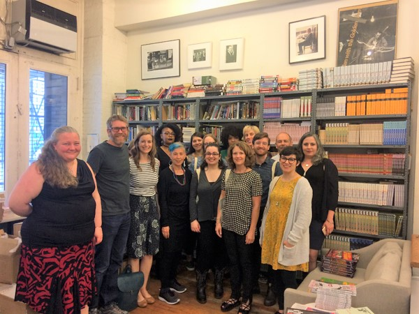 "Booksellers visit Seven Stories Press as part of ""Meet the Editor."""