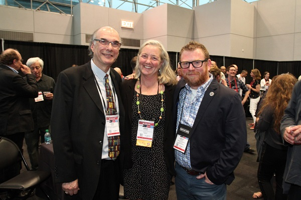 From left: ABA CEO Oren Teicher, Annie Philbrick, Robert Sindelar
