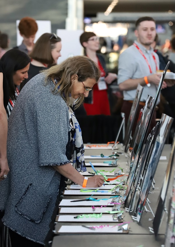 The children's book art auction featured works by more than 130 illustrators.