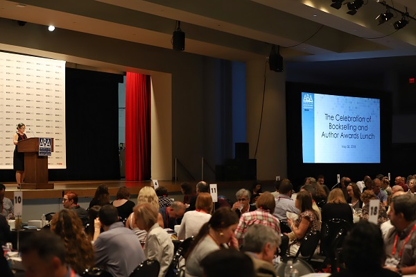 Booksellers filled the Main Stage for the Celebration of Bookselling lunch.