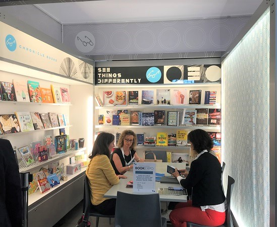 Chronicle met with booksellers during BookExpo's new In-Booth Editors' Hours program.