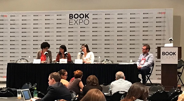 Bookseller panelists lead a session on diversity and inclusivity.