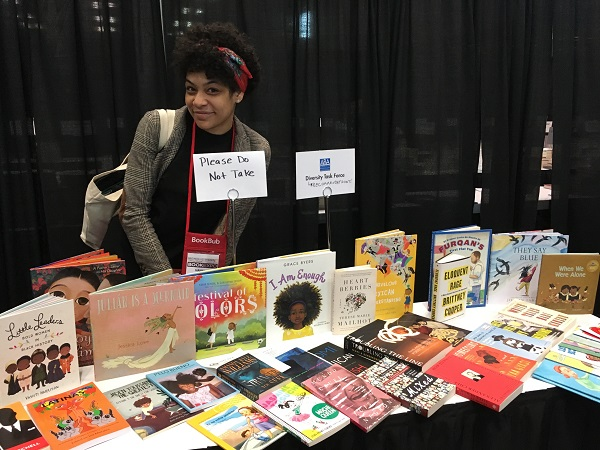 The ABA Diversity Task Force featured a number of stellar titles at their table in the lounge.