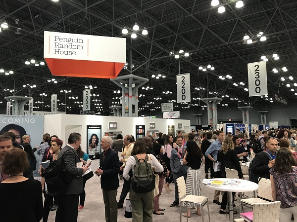 Penguin Random House's booth was filled with booksellers throughout the event.