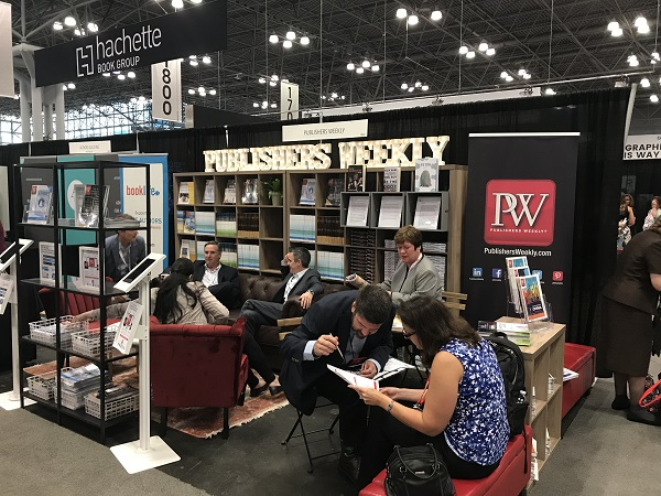 Publishers Weekly's booth at BookExpo.
