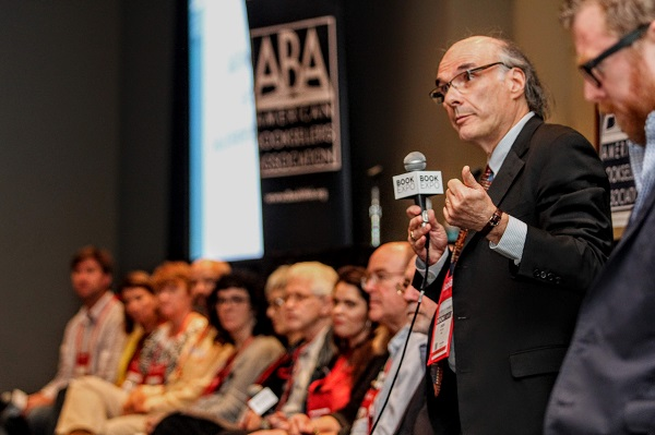 ABA CEO Oren Teicher responds to a question at the Town Hall.