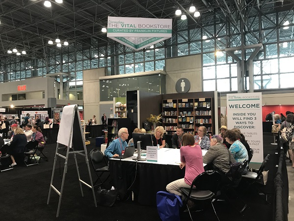 Booksellers met for roundtable discussions at the Vital Bookstore exhibit.