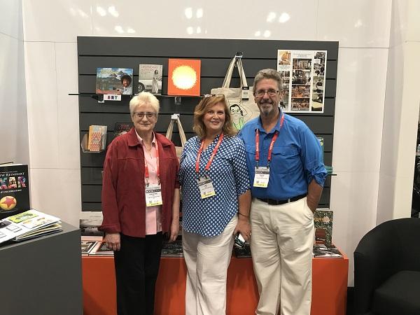 Franklin Fixtures' Christine Hart, Lisa Uhrik, and David Uhrik at the Vital Bookstore.