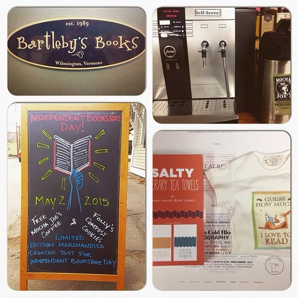 Bartleby's Books in Wilmington, Vermont, created an Independent Bookstore Day collage.