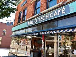Biblio-Tech Cafe storefront