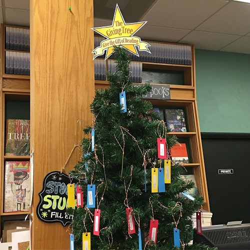 Book Passage's Giving Tree.