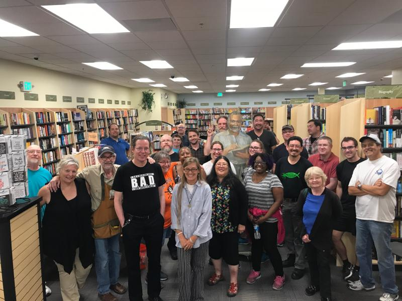 Books Inc. staff help relocate the Mountain View store