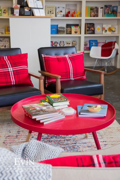 Chairs and table at Bound Booksellers