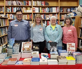 Volunteer booksellers at Broadway Books in Oregon.