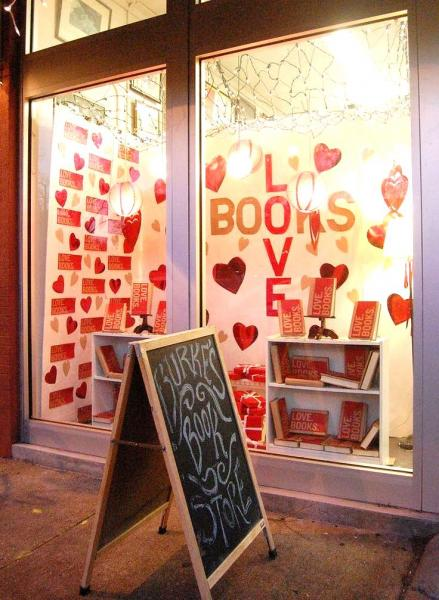 A Valentineu0027s Day Display Window At Burkeu0027s Book Store In Memphis,  Tennessee, Posted On The Creative Bookstore Windows Pinterest Board.