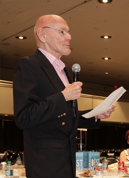 "Richard Peck, author of E.B. White Read-Aloud Middle Reader Honor Book ""The Best Man."""