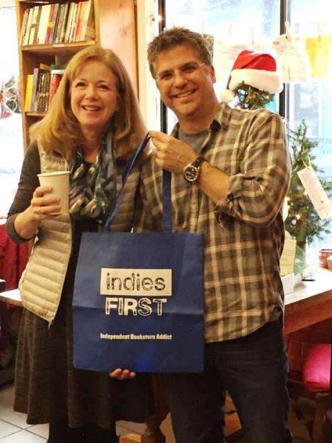 Carol Cassella and Garth Stein at Liberty Bay Books