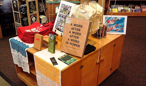 Arizona's Changing Hands displayed the many literary themed Independent Bookstore Day items.