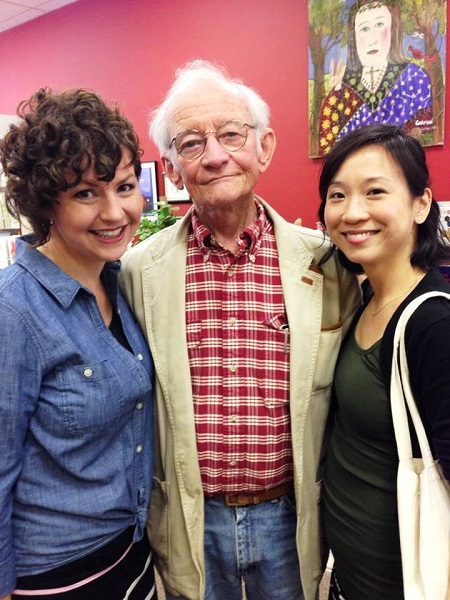 Authors Tonya Kuper, Ted Kooser, and Lydia Kang at Chapters Books and Gifts in Seward, Nebraska.