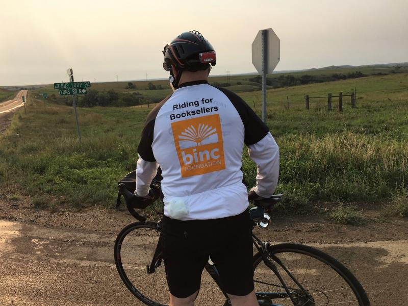 Chuck Robinson on Day One of his 2,000 mile journey that began in North Dakota on September 1.