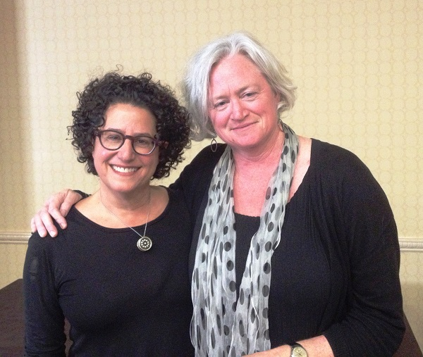 "Author Marla Frazee and Beach Lane Books publisher Allyn Johnston after their featured talk ""Creating a Picture Book."""