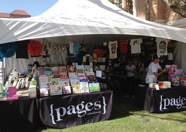 {pages} a bookstore recreates its storefront at the LA Times Festival of Books.