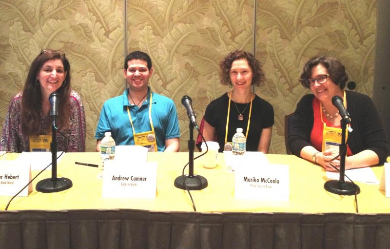 Photo of Graphic Novel education session panelists.