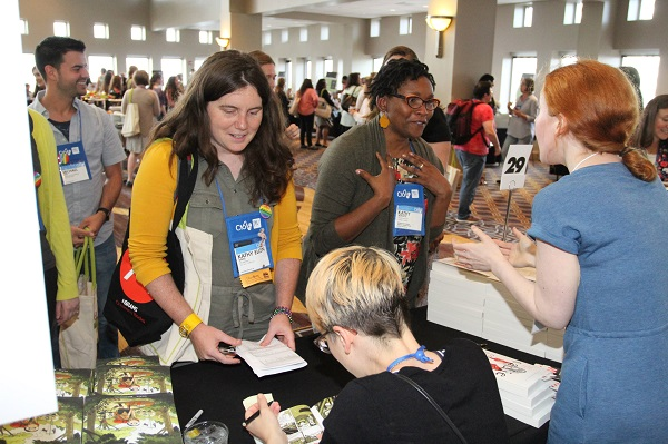 Booksellers meet authors Vera Brosgol and Courtney Summers.