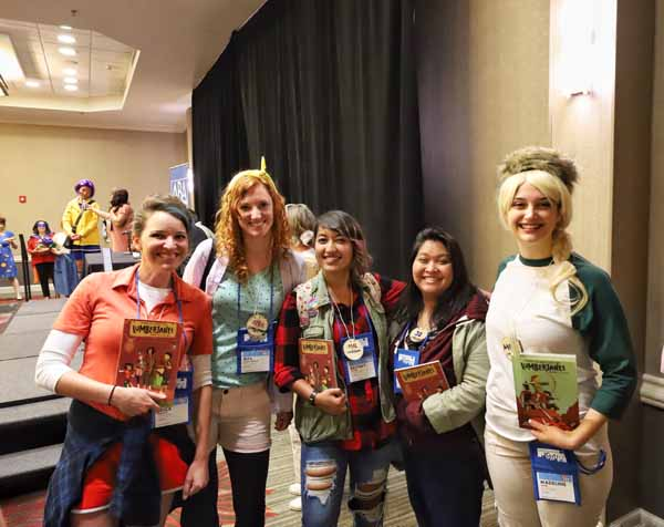 Booksellers from Powell's Books took home the prize for best group costume for their take on the Lumberjanes.