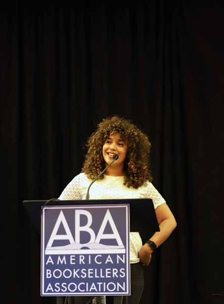 Author Elizabeth Acevedo took the stage for the afternoon keynote on Friday, June 28.