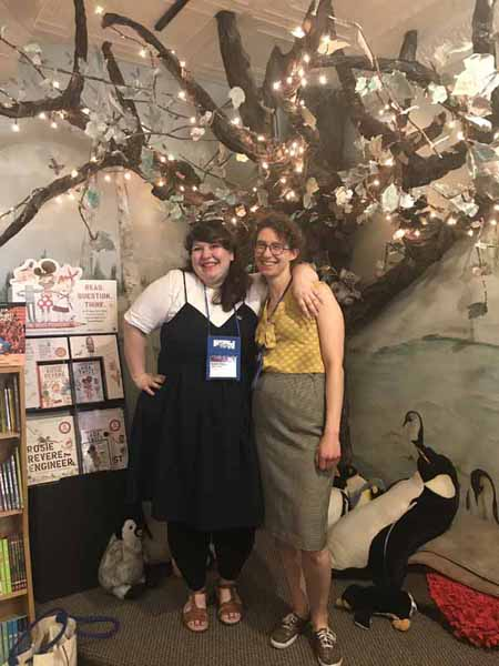 Quarto's Hannah Moushabeck and Porter Square's Marika McCoola posted at Penguin Bookshop.