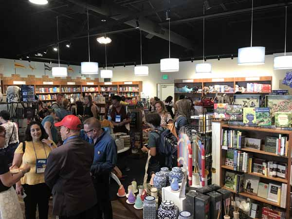 Riverstone Books welcomed booksellers on one of the Ci7 bookstore tours.