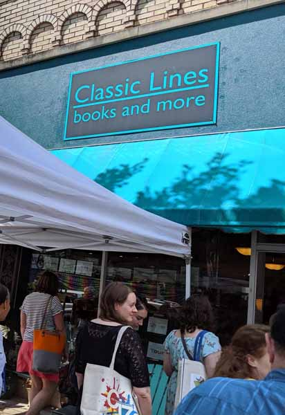 Classic Lines bookstore storefront
