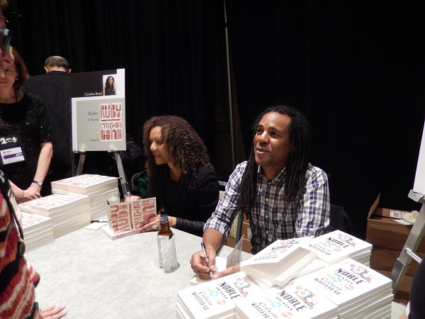 Authors Cynthia Bond and Colson Whitehead at the Author Reception.