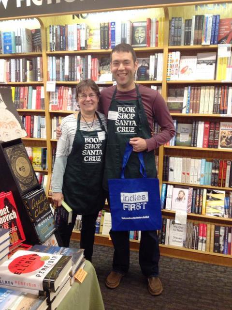 Karen Joy Fowler and David Zeltser at Bookshop Santa Cruz