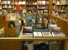 A photo of the book selection at the Delaware Art Museum Store.