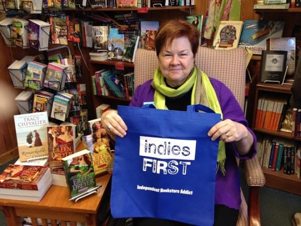Romance author Eileen Dreyer at Main Street Books in St. Charles, Missouri.
