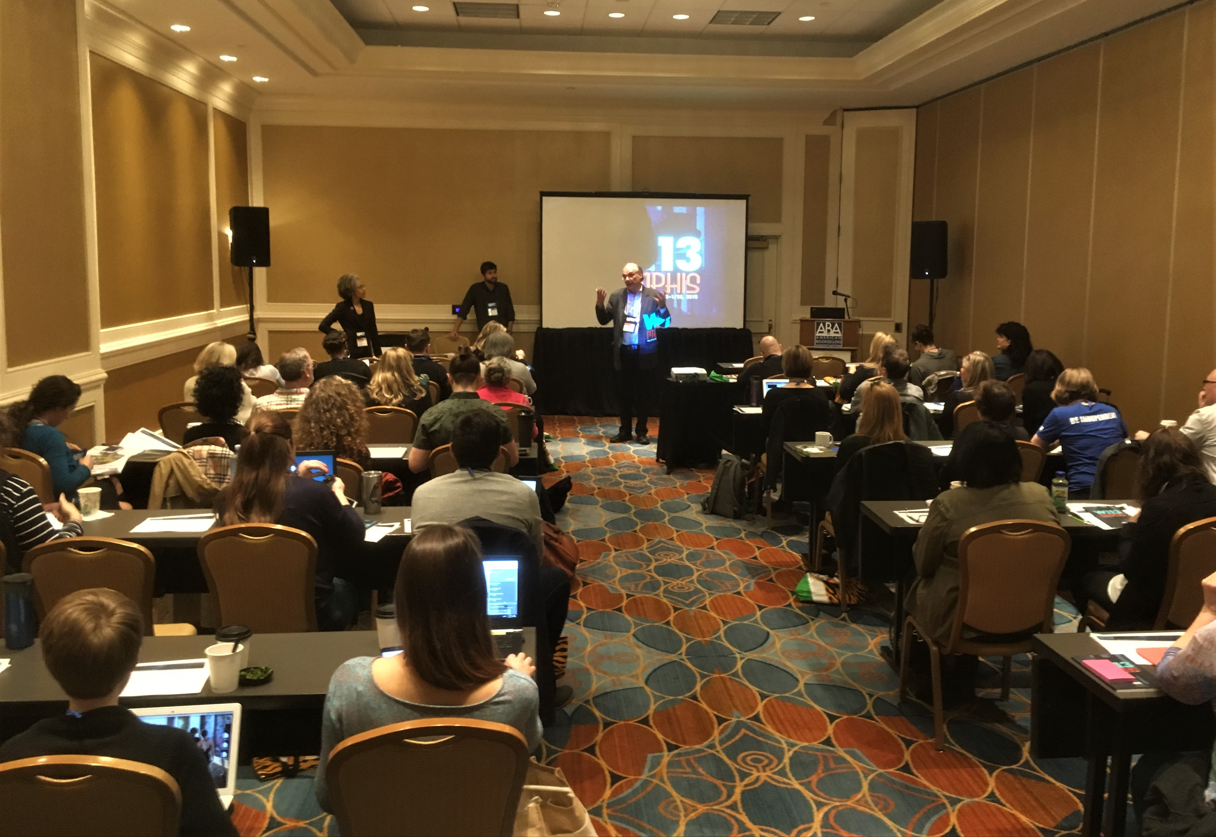 ABA CFO Robyn DesHotel and Books Inc.'s  Andy Perham led a financial seminar on Monday.