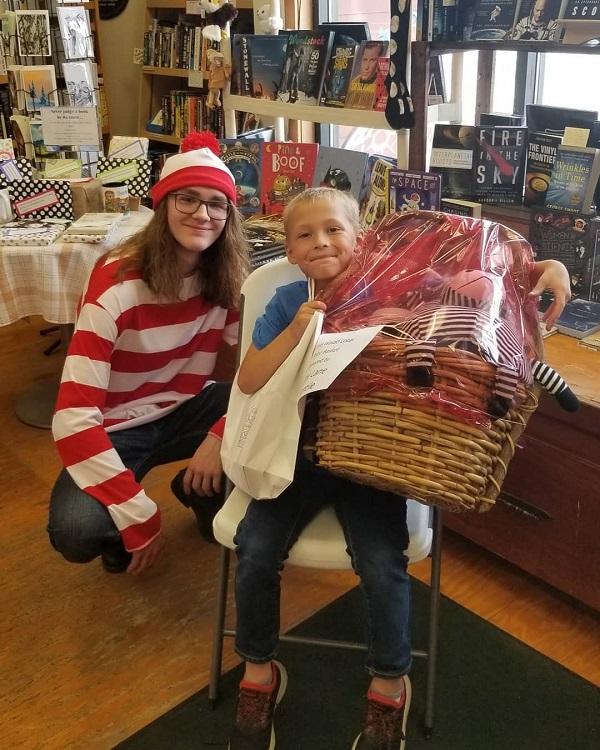 A prize winner at Fireside Books in Palmer, Alaska.