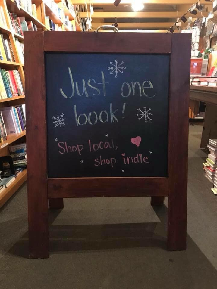A Great Good Place for Books used Indies First as another opportunity to promote its #jutsonebook campaign.
