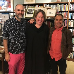 Gavin J. Grant and Kelly Link with Small Beer Press author Kim Scott at White Square Books.