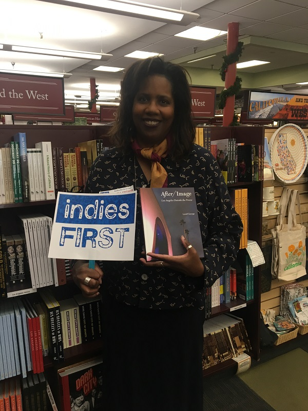 Lynell George at Vroman's Bookstore in Pasadena, California.