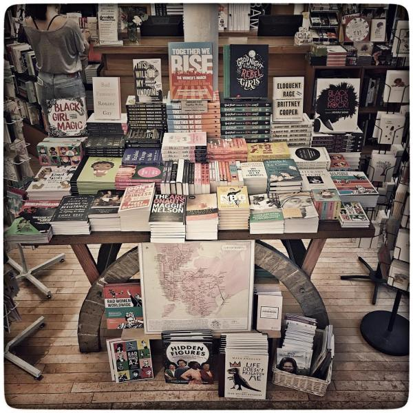 Greenlight Books' Women's History Month display