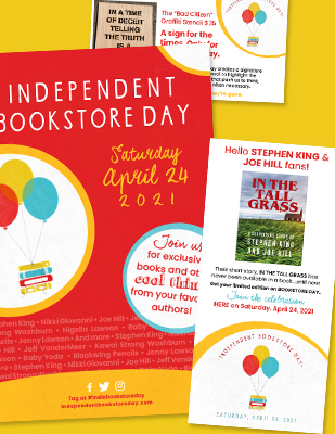 Independent Bookstore Day: Saturday, April 24, 2021