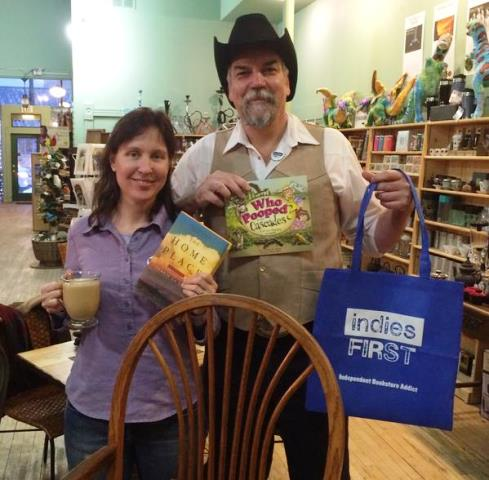 Gary Robeson of Red Lodge Books & Tea with Carrie La Seur