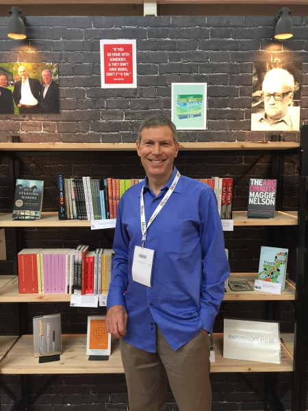 David Sandberg of Porter Square Books at the Turin International Book Fair.
