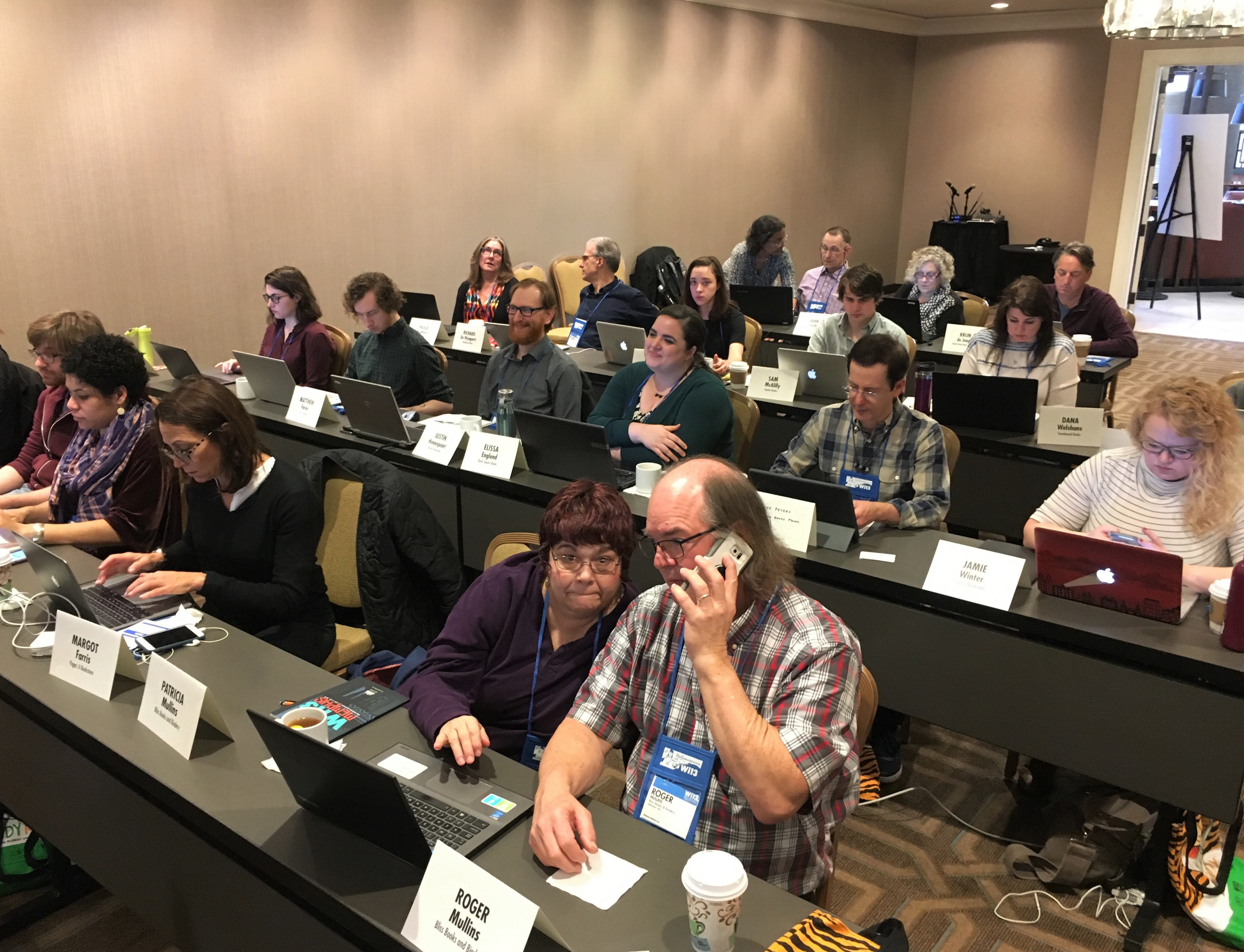 Booksellers attended the IndieCommerce Institute on Monday.